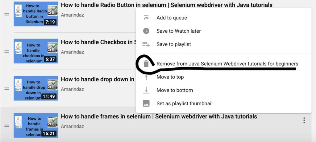 delete video youtube playlist