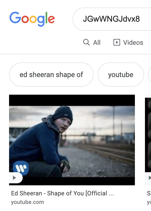 thumbnail image of deleted youtube video