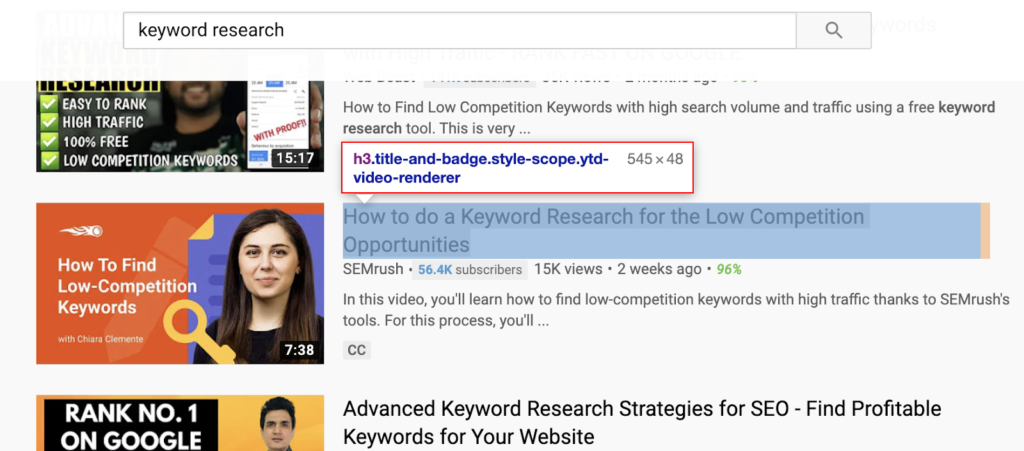 video title keyword research