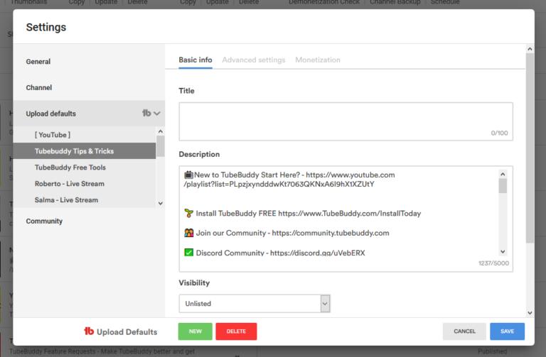 multipe default profiles