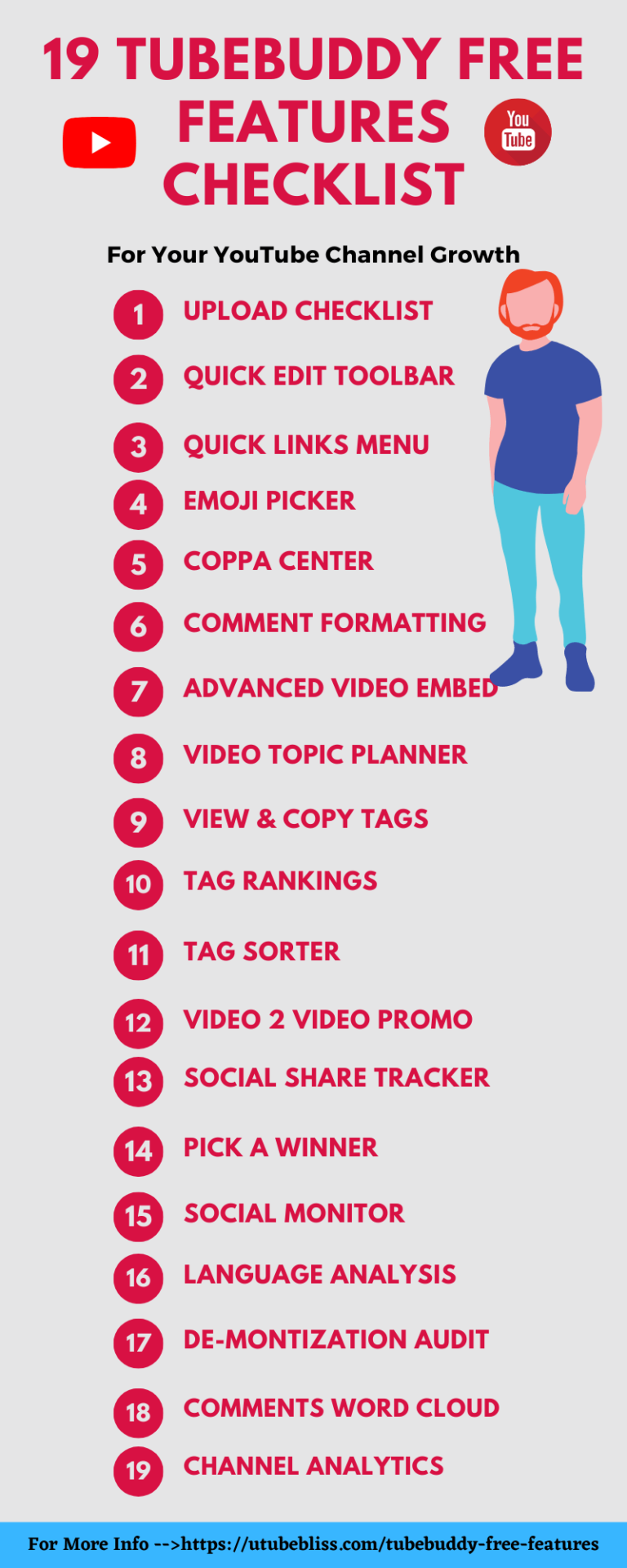 19 TubeBuddy free features checklist img