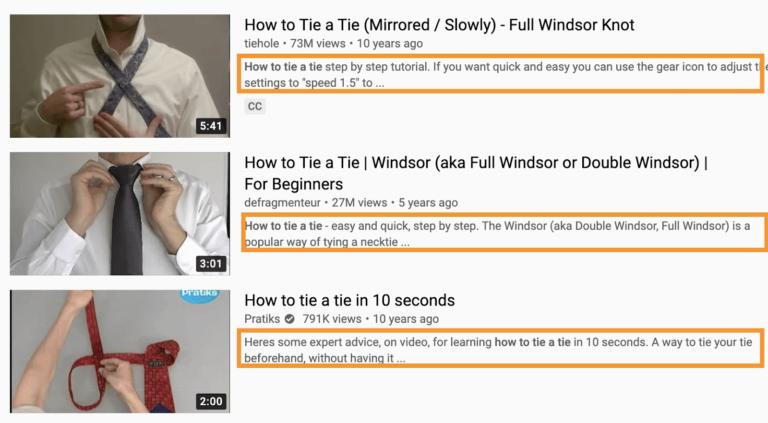 increase youtube views with description