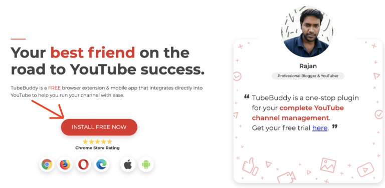 install tubebuddy for free now