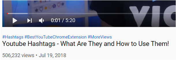 title youtube hashtags