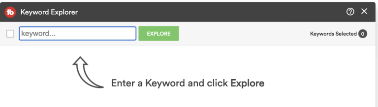 tubebuddy keyword explorer tab