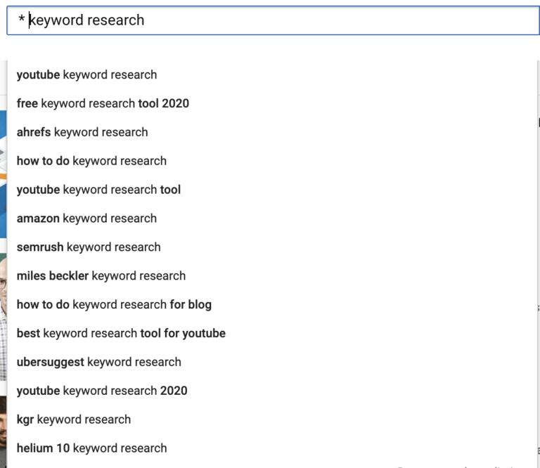 youtube keyword volume