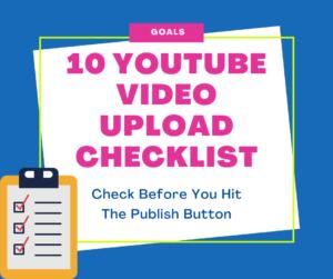 Video upload checklist