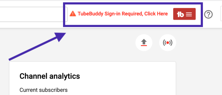 tubebuddy sign in required click here