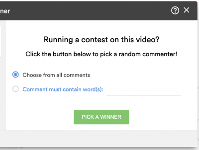 pick winner for youtube