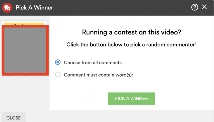 youtube comment picker giveaway